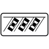 Ceļa zīme - Nr. 834 Transportlīdzekļa novietojuma veids stāvvietā