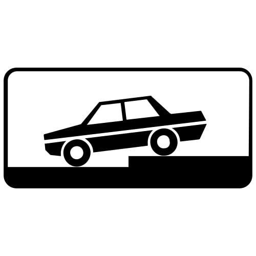 Ceļa zīme - Nr. 836 Transportlīdzekļa novietojuma veids stāvvietā
