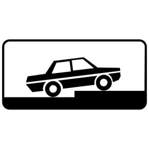 Ceļa zīme - Nr. 837 Transportlīdzekļa novietojuma veids stāvvietā