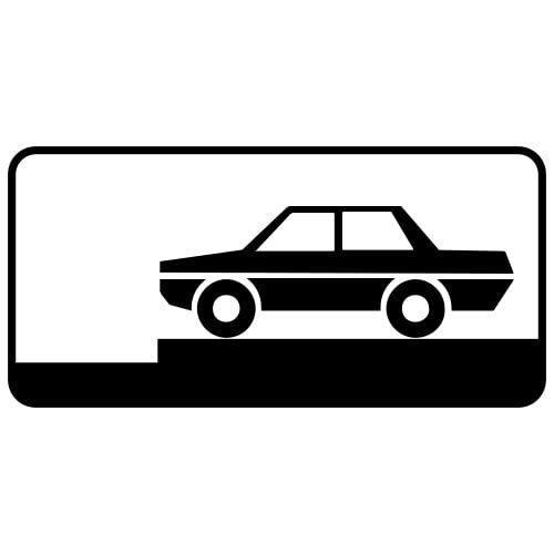 Ceļa zīme - Nr. 838 Transportlīdzekļa novietojuma veids stāvvietā