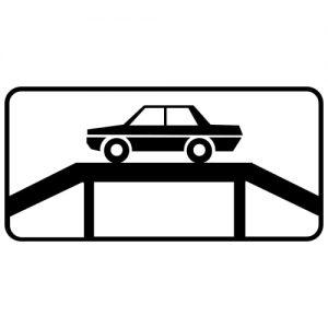 Ceļa zīme - Nr. 841 Automobiļu apskates vieta