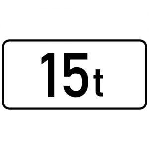 Ceļa zīme - Nr. 842 Pilnas masas ierobežojums