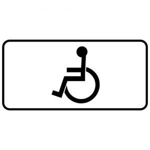 Ceļa zīme - Nr. 844 Invalīdiem