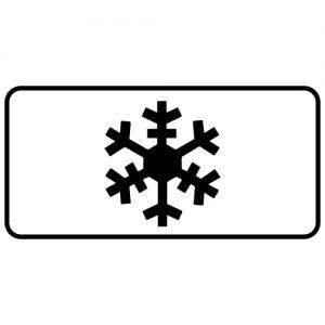Ceļa zīme - Nr. 846 Slidens segums