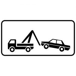Ceļa zīme - Nr. 848 Strādā autoevakuators