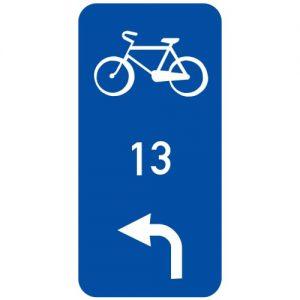 Ceļa zīme - Nr. 857 Velomaršruts