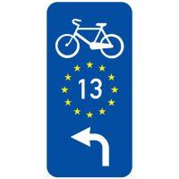 "Ceļa zīme - Nr. 858 ""EuroVelo"" maršruts"