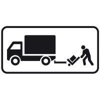 Ceļa zīme - Nr. 859 Preču piegāde