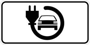 Ceļa zīme - Nr. 860 Elektromobiļiem