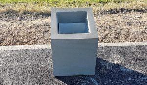 Betona atkritumu urna