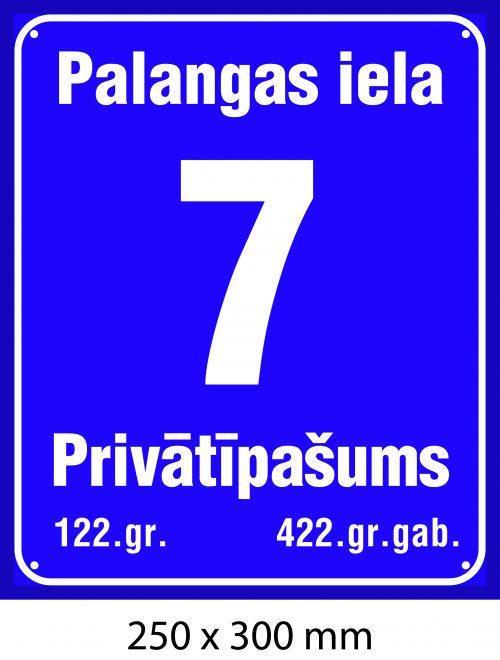 Mājas numurs, māju numura plāksne - Rīgas standarts