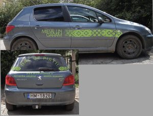 Vieglo automašīnu aplīmēšana, auto reklāma