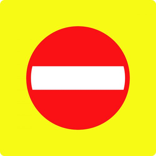 Ceļa zīme - Nr. 301 Iebraukt aizliegts (ar fluorescējošu apmali)