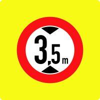 Ceļa zīme – Nr. 311 Augstuma ierobežojums (ar fluorescējošu apmali)