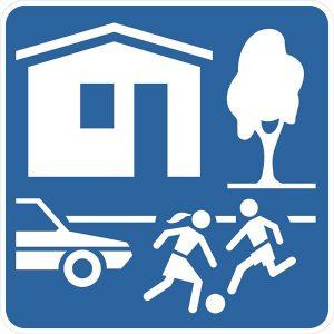 Ceļa zīme - Nr. 533A Dzīvojamā zona