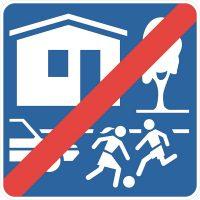Ceļa zīme – Nr. 534A Dzīvojamās zonas beigas