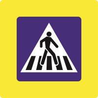 Ceļa zīme - Nr. 536F Gājēju pāreja (ar fluorescējošu apmali)