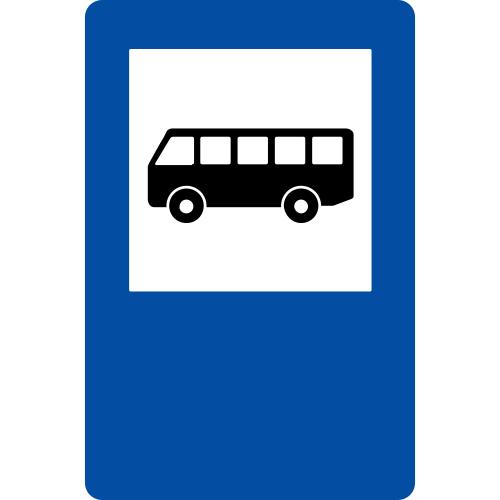 Ceļa zīme - Nr. 541* Autobusa un trolejbusa pietura