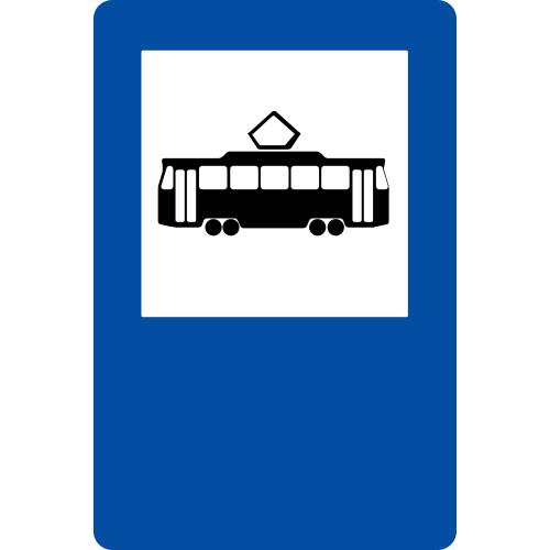 Ceļa zīme – Nr. 542* Tramvaja pietura