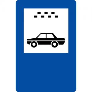 Ceļa zīme – Nr. 543* Vieglo taksometru stāvvieta