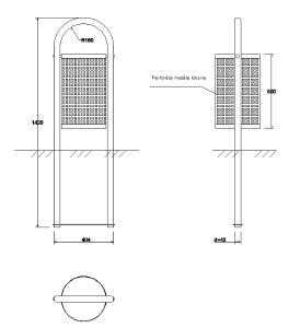 Metāla atkritumu urna
