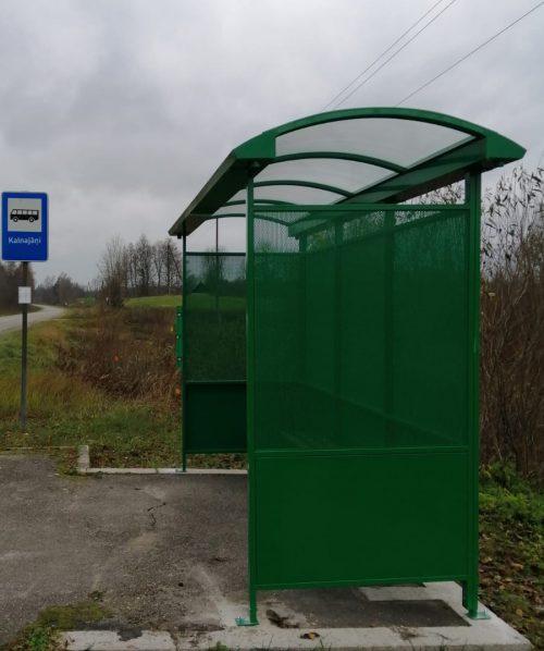 Autobusu pieturvietu paviljons, nojume
