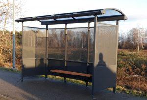 Autobusu pieturvietu nojume - paviljons