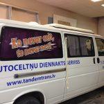 Mikroautobusu aplīmēšana, auto reklāma