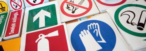 Darba drošības zīmes un uzlīmes