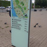 Karte - stikla informācijas stends