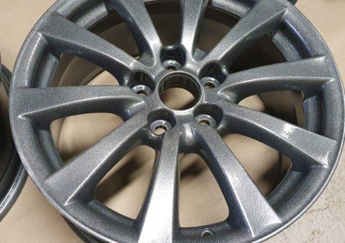 Alumīnija disku pulverkrāsošana